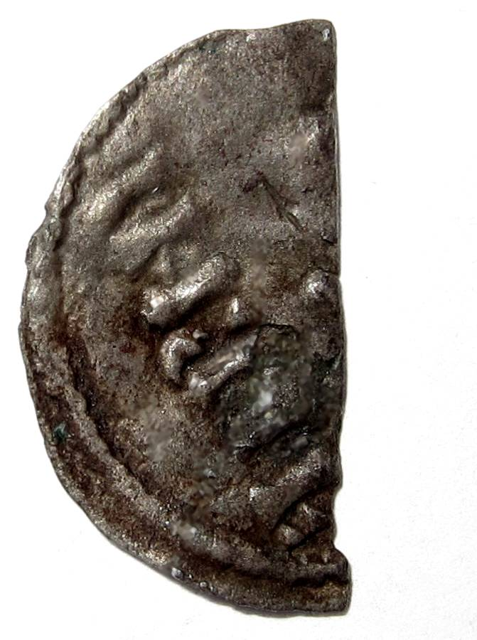 Lot 57 - Viking, Southern Danelaw, ALFRED [898-915] PENNY [cut half-penny]. Viking imitation of Alfred coin