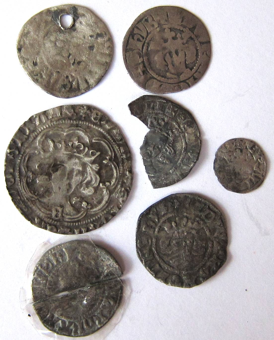 Lot 71 - Medieval – mixed lots of hammered coins: JOHN, EDWARD 1, EDWARD 111, etc. – detector finds -
