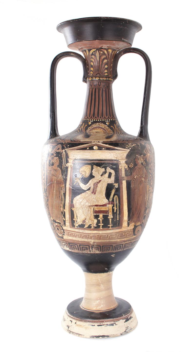 Ancient Greek Red Figure Loutrophoros Or Ceremonial Vase