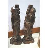Pair of Rootman figurines