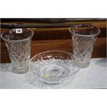 Various cut glass