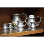 Collection of pewter