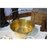 Brass jam pan