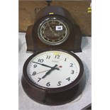 Enfield mantle clock and 1 other
