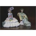 2 x Royal Doulton figurines 'Ascot' & 'Daydream'