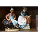 2 x Royal Doulton figurines 'Thanksgiving' & 'Old