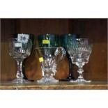 Various glasses, custard cup etc.