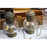 2 Oil lanterns