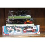 3 Boxed die cast carriages