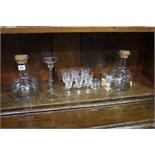 Assorted glassware, Dartington etc.