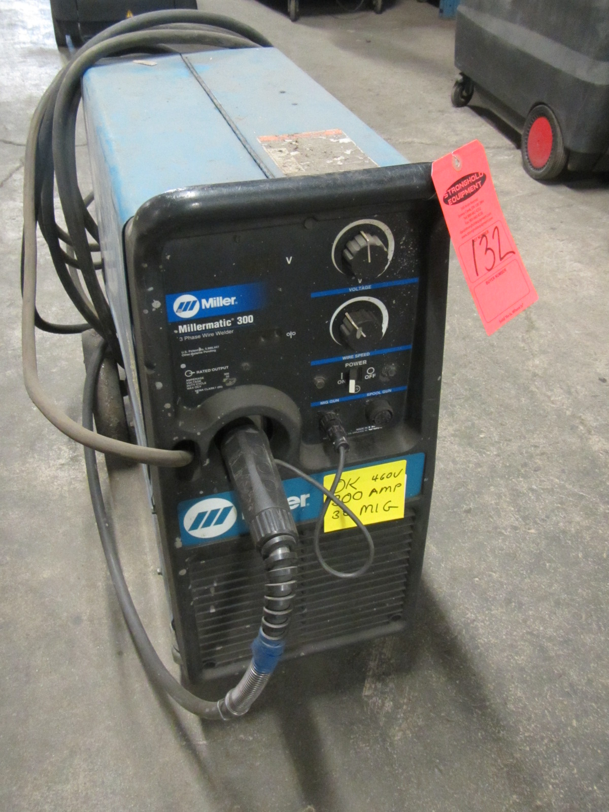 Miller Millermatic 300 Mig Welder Amp With Gun Built Wiring A Lot 132 In