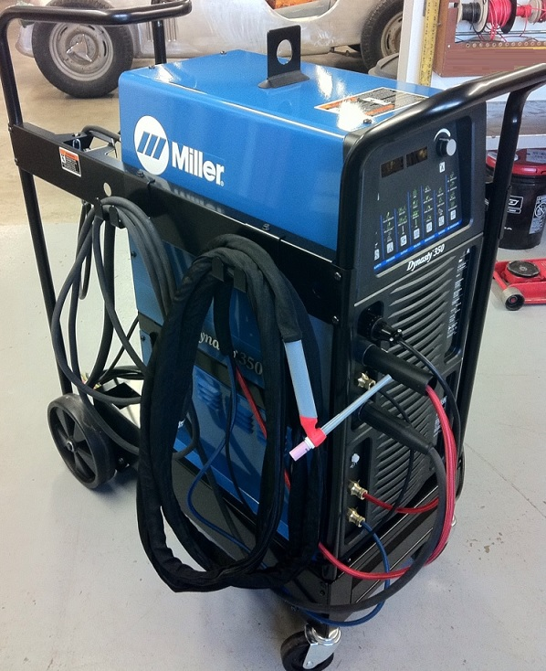 Miller Dynasty 350 Tig Welder - complete package with whip and built