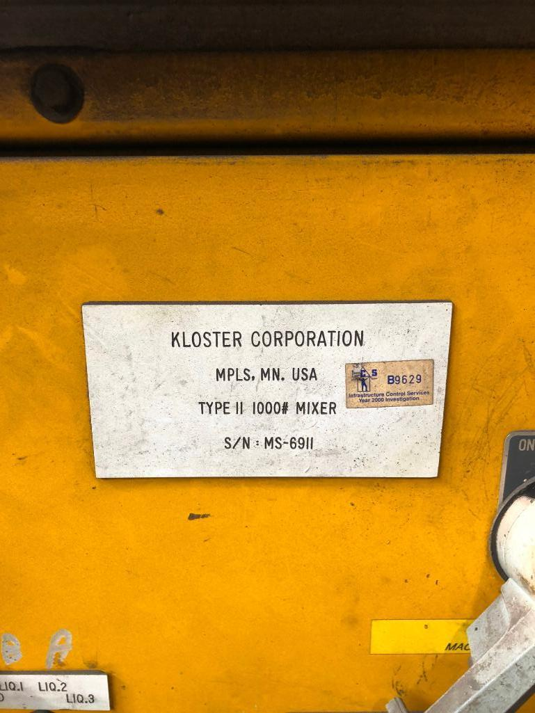 Lot 44 - LOT: Kloster Type ii 1000# Mixer with Pumps and Controls S/N MS-6911