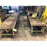 LOT: Approx. 50 ft. of 24 in. Roller cConveyor and Small Hand Transfer