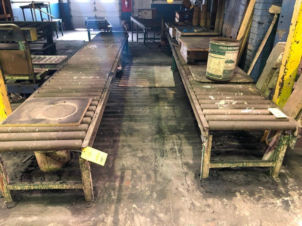 Lot 48 - LOT: Approx. 50 ft. of 24 in. Roller cConveyor and Small Hand Transfer