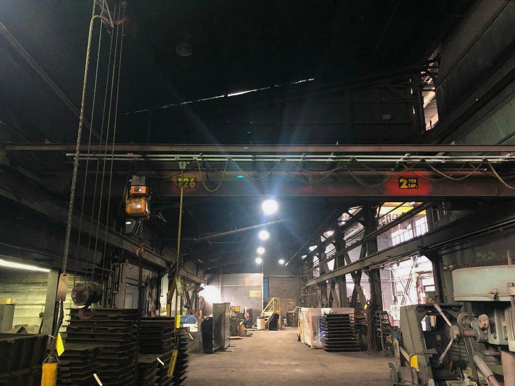 Lot 30 - #126 Wright 2 Ton Bridge Crane Approx. 25 ft. Span with Controls