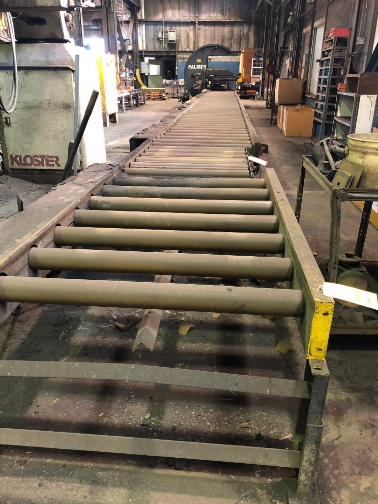 Lot 46 - LOT: Approx. 51 ft. of 40 in. Powered Roller Conveyor on 10 in. Centers