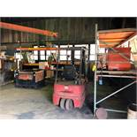 LOT: (6) Sections of Pallet Racking and Flame Cabinet (no contents)