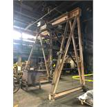 #132 Demag 4 Ton Traveling Crane 10 ft. span, 14 ft. high
