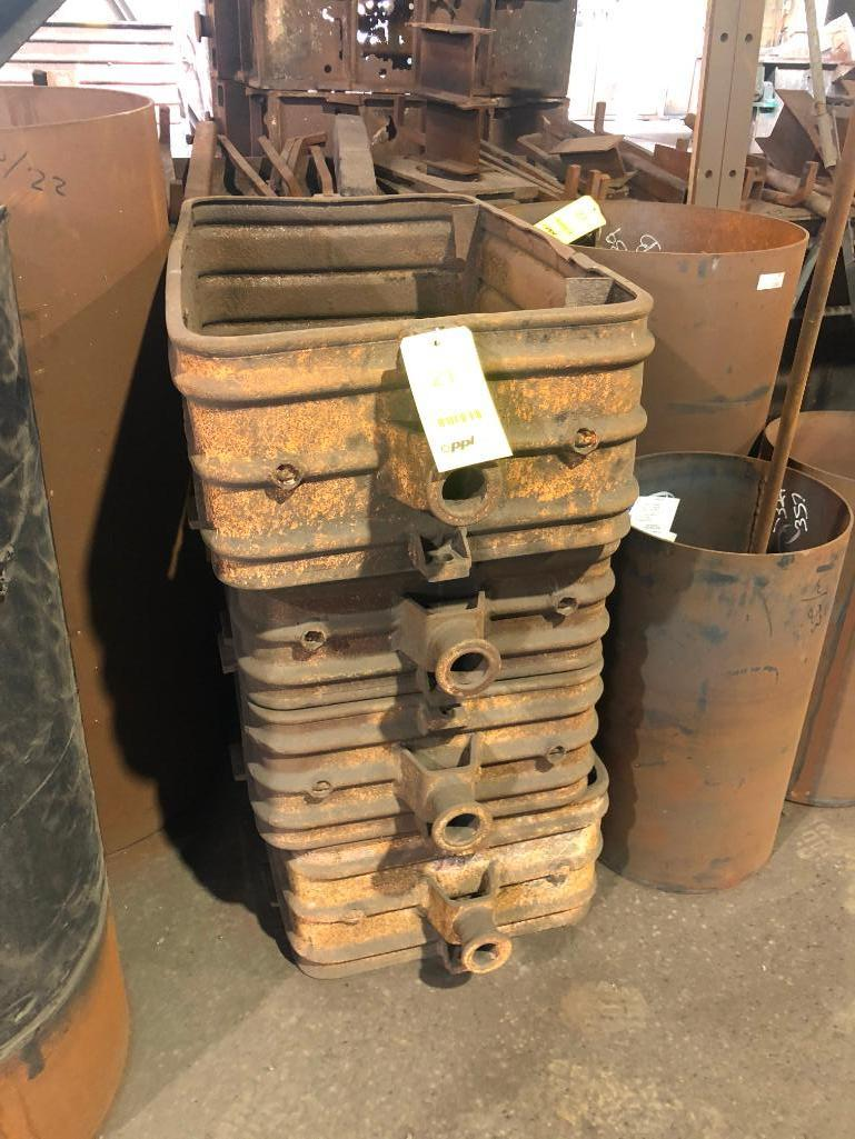 Lot 21 - LOT: All Steel Flasks Inside Building (outside flasks not included)