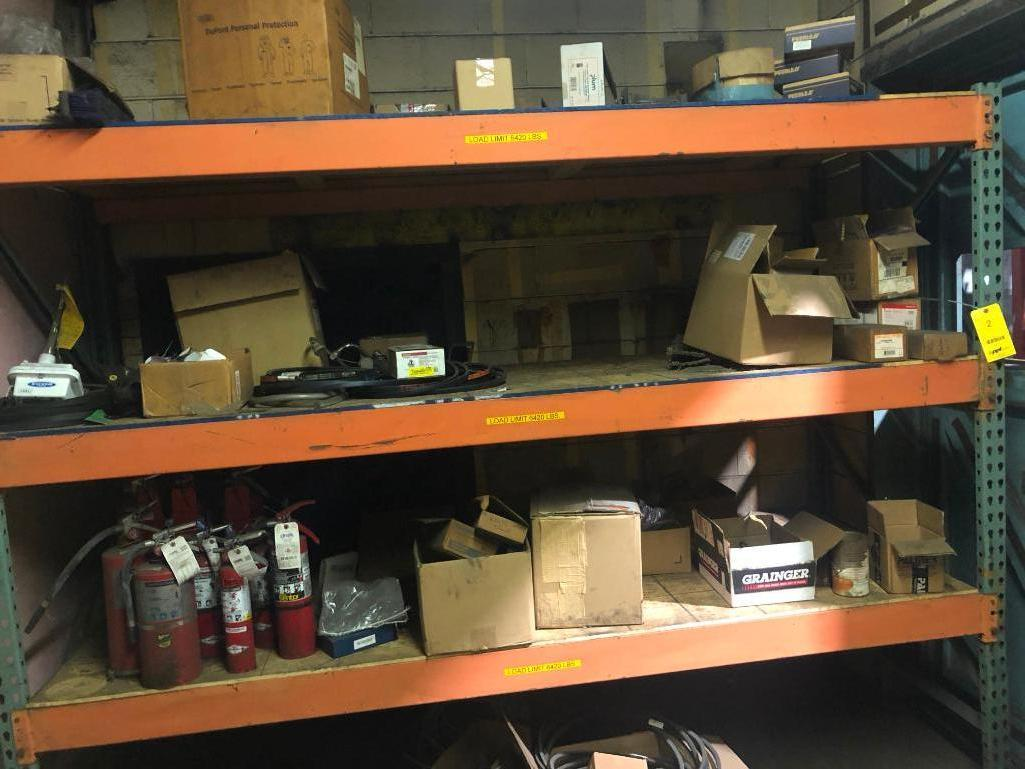 Lot 2 - LOT: (1) Section of Pallet Racking with Contents
