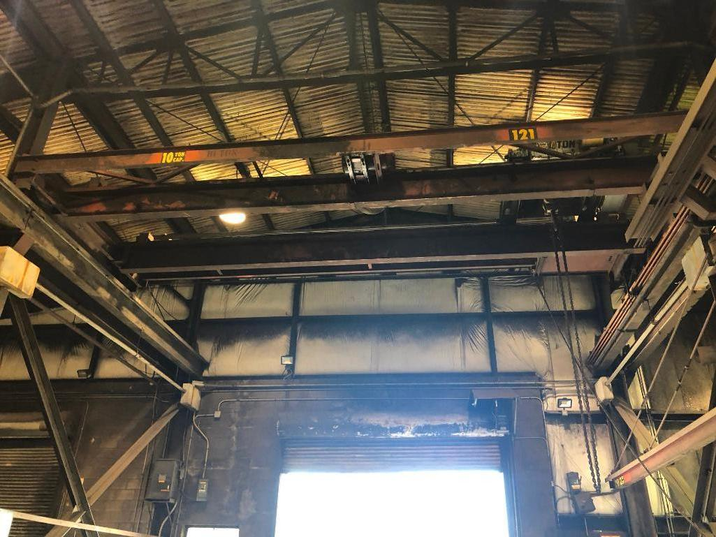 Lot 55 - #121 10 Ton Bridge Crane Approx. 27 ft. Span with Pendent Controls
