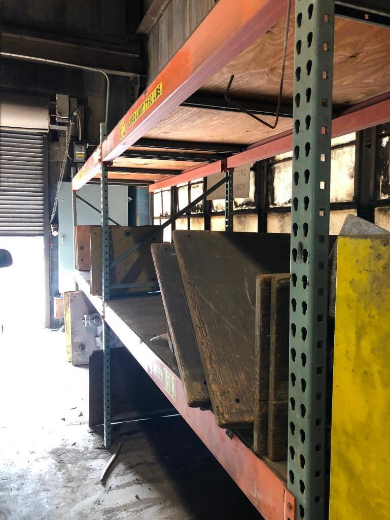 Lot 51 - LOT: (6) Sections of Pallet Racking and Flame Cabinet (no contents)