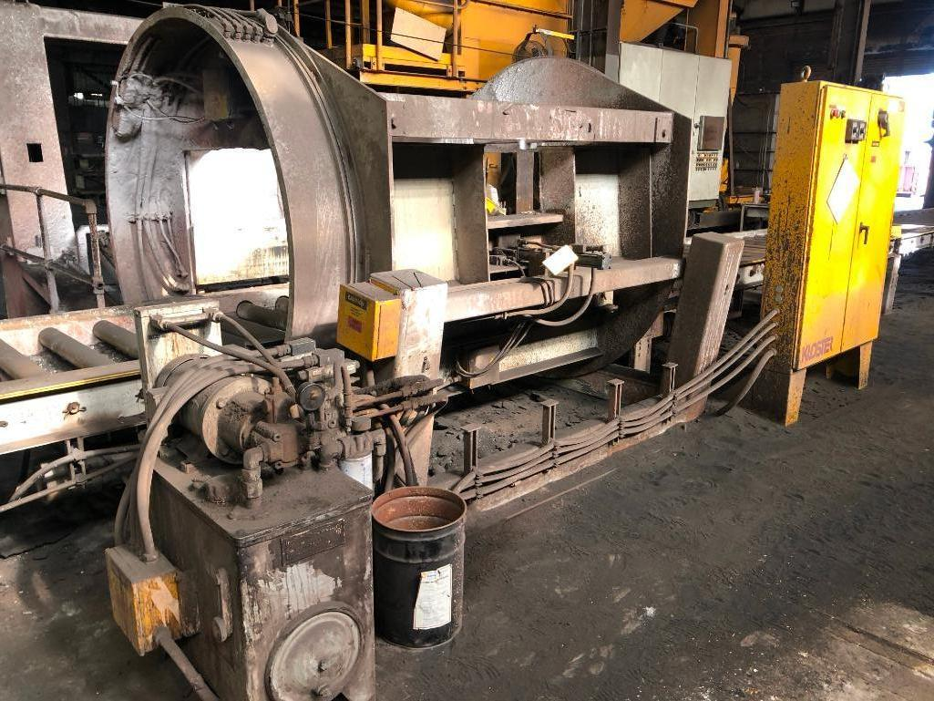Lot 42 - Kloster 4000# in Line Mold Wash Station with Hydraulics and Controls S/N MS-6988, Conveyor, 48 in. O