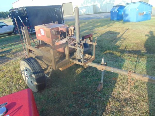 Lot 31a - Lincoln Lincwelder 225 s/n a003207 onan gas eng on s/a bumperpull trailer,