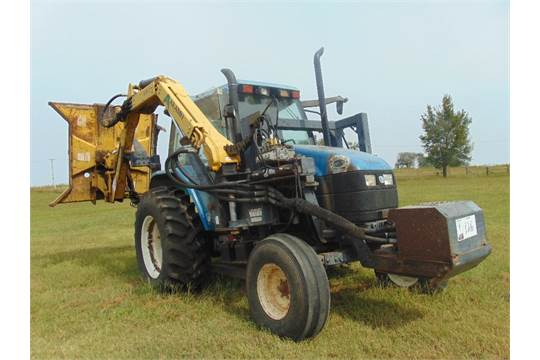 2000 New Holland TS110 Mowing Tractor w/ Alamo MB21 Boom Mower , s/n