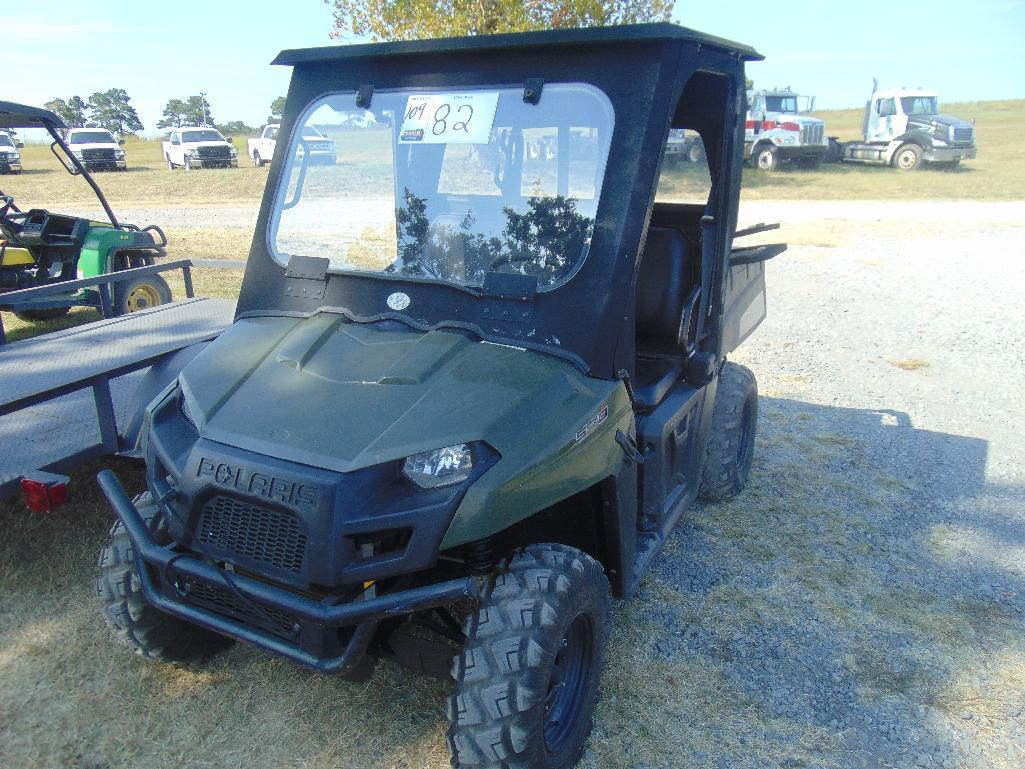 Lot 82 - Polaris Ranger 570 4x4 Side by Side, s/n 4xarh57a8ee240748, hour meter reads 1130 hrs,