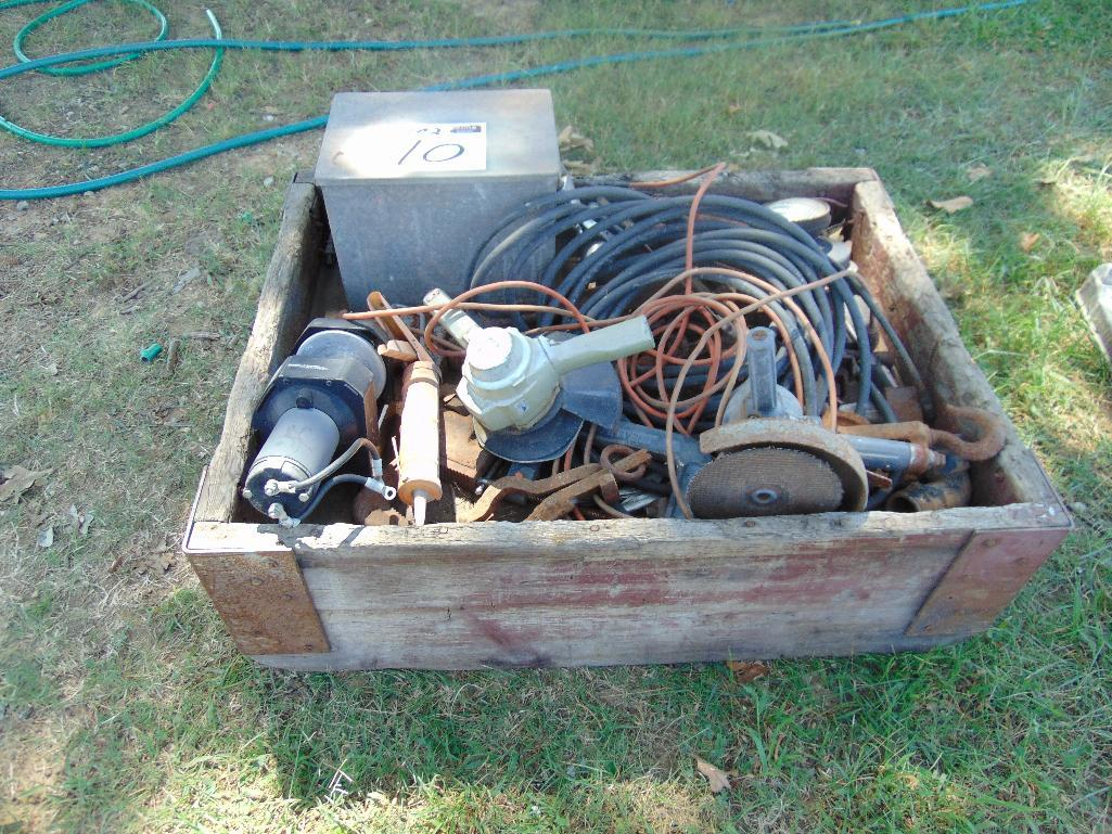 Lot 10 - Crate of Assorted Shop Items