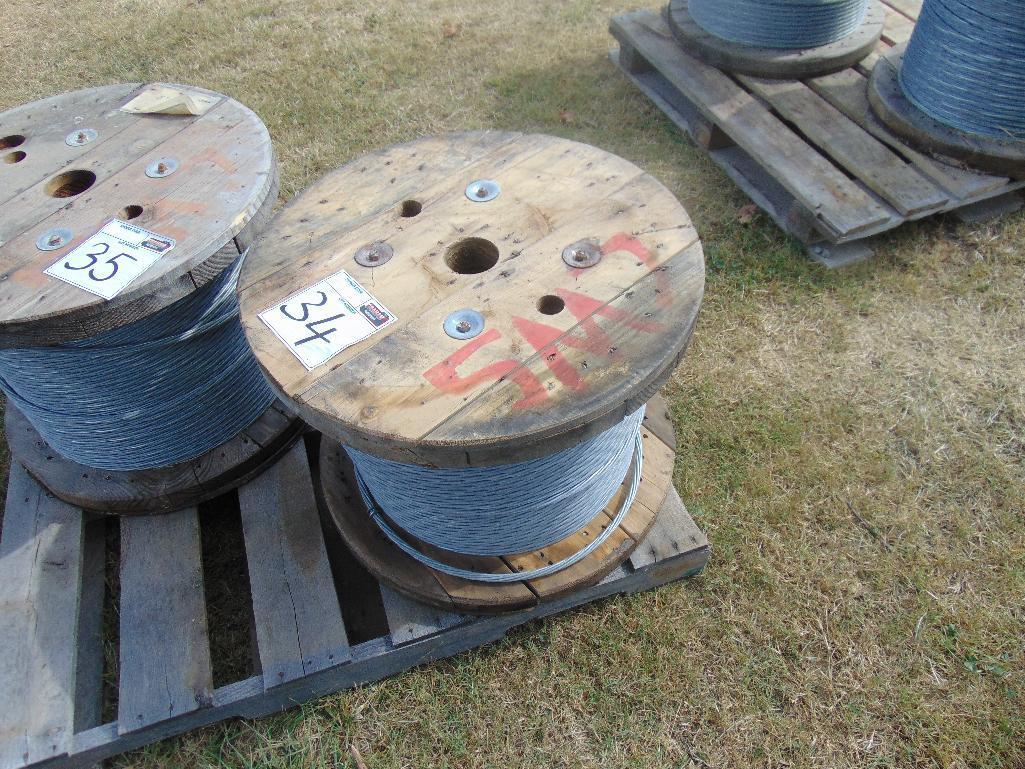 "Lot 34 - Spool of 1/2"" Galvanized Steel Rope 1000'"