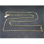 "28"" gold on silver oval belcher link chain by Milano 6.8g"