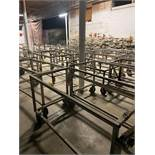 Heavy Duty Rolling Carts Various sizes Lot of approx. 25