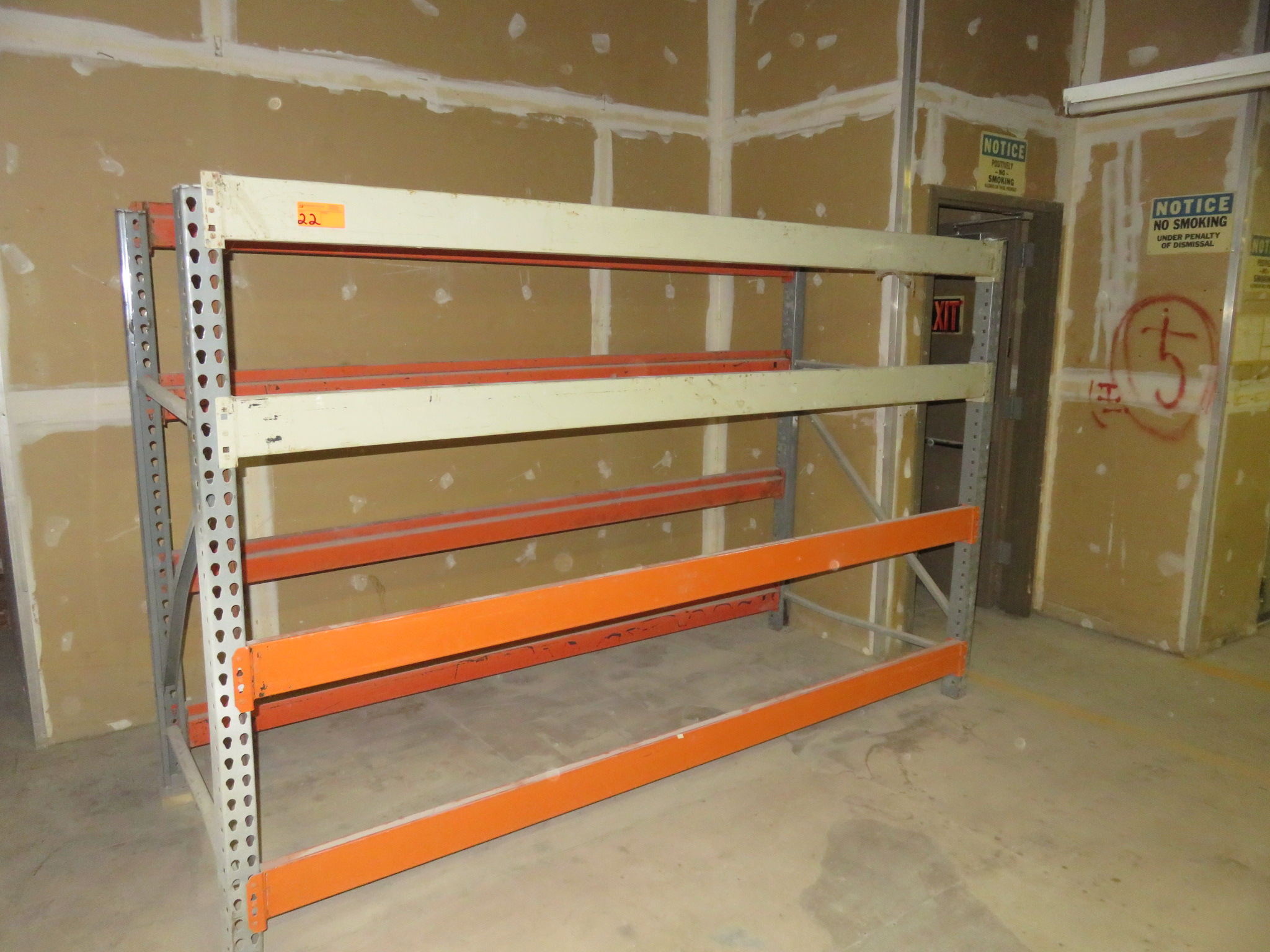 "Warehouse Pallet Racking 1 Section approx 108""x 42""x 72"""
