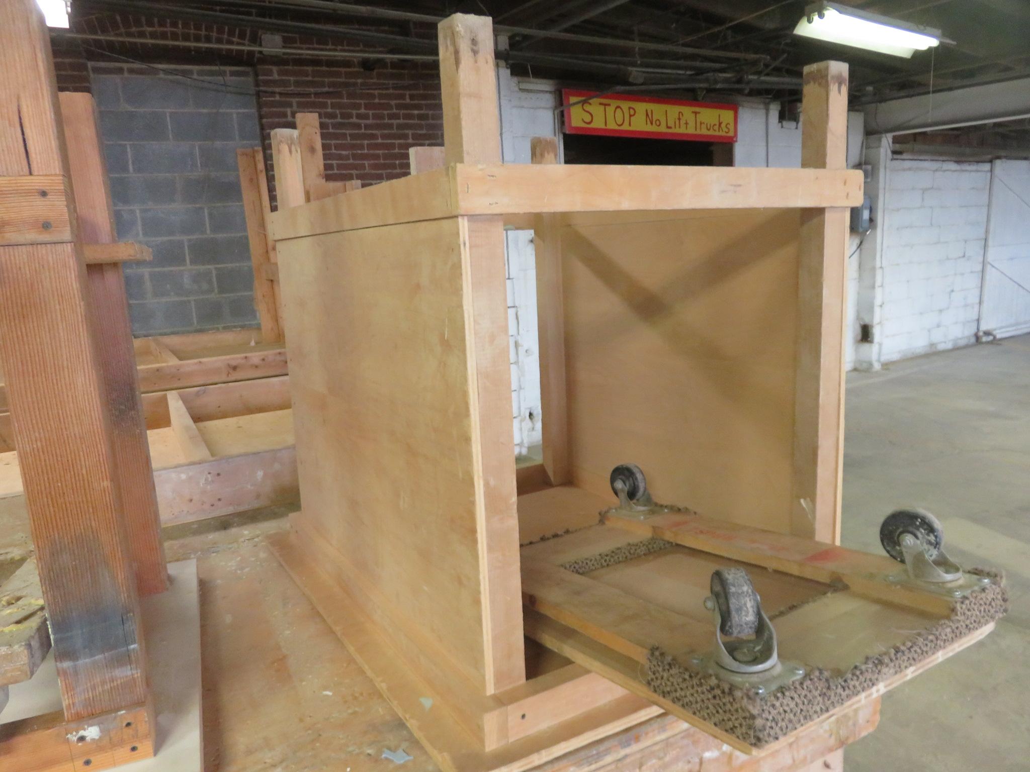 "Heavy Duty Wooden Work Tables Lot of 3 approx 96""x 48""x 36, 38""x 32""x 34"" 60""x 28""x 36"""