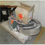 """Railroad Cart with Contents Compressors - Heaters Cart approx 51""""x 27"""" x 16"""""""