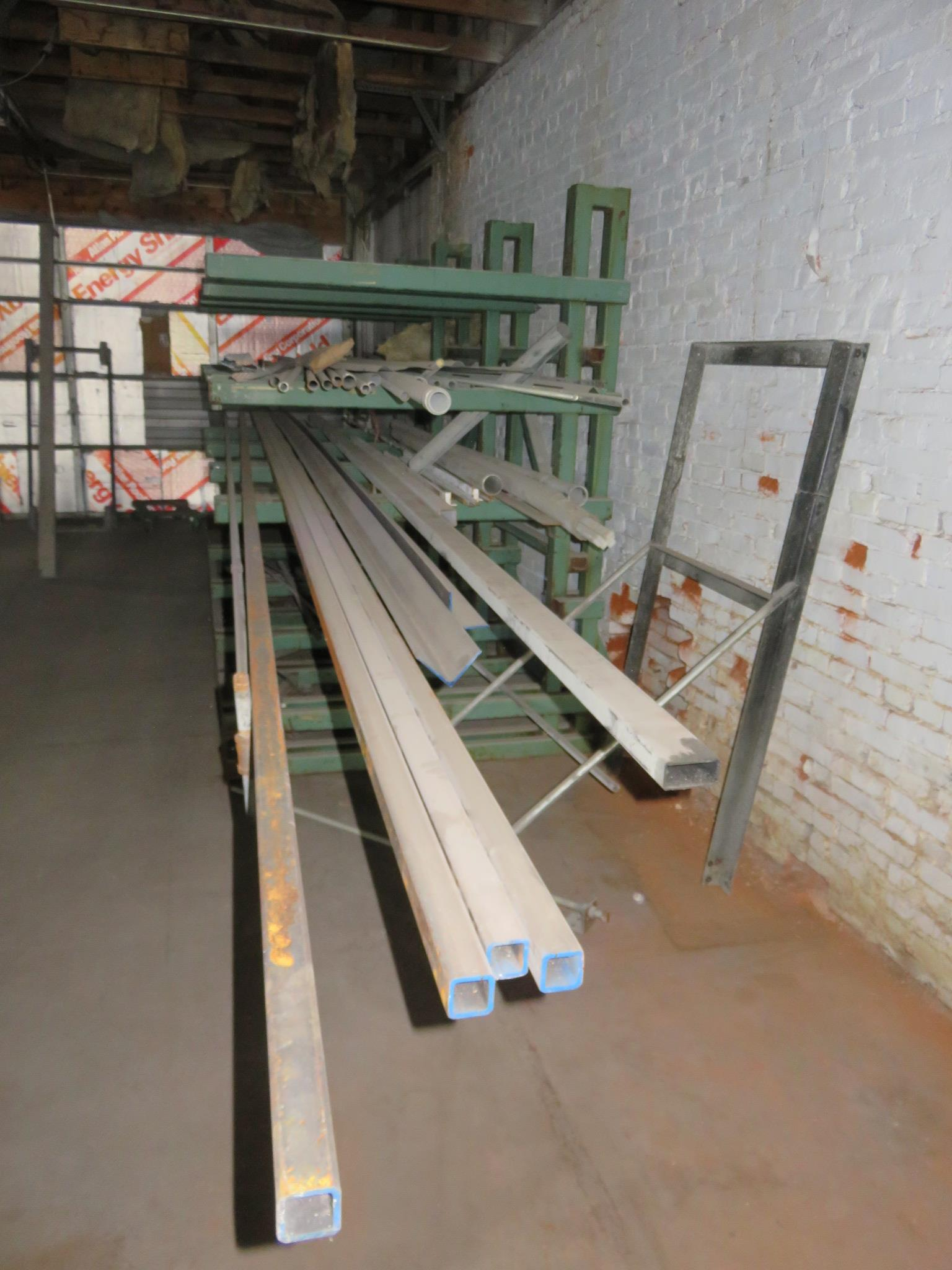 """Heavy Duty Cantilever Racking with Metal Stock Approx.123"""" x 56.5"""" x 82"""" - Image 3 of 6"""