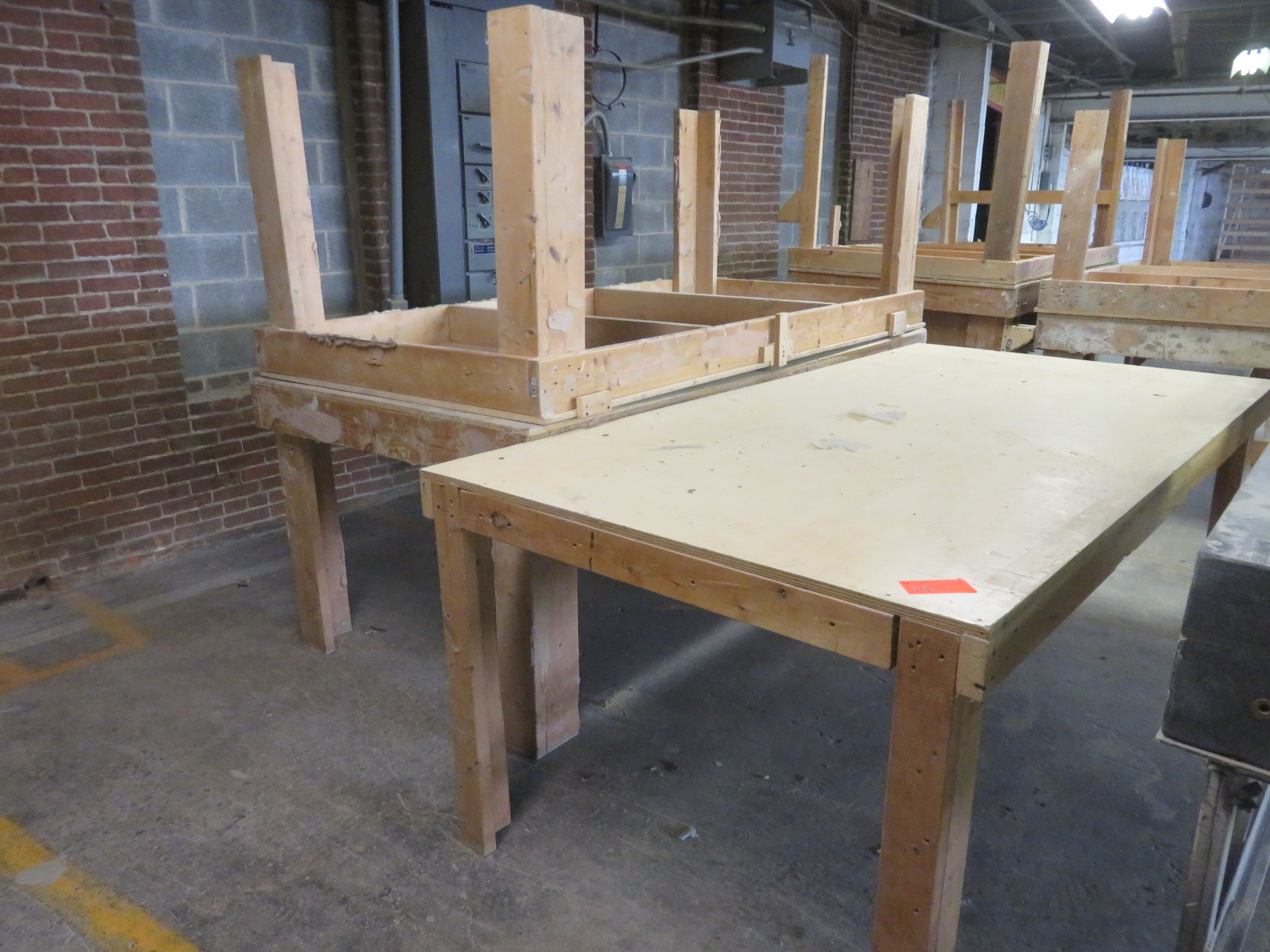 """Heavy Duty Wooden Work Tables Lot of 3 approx.96""""x 48""""x 36"""""""