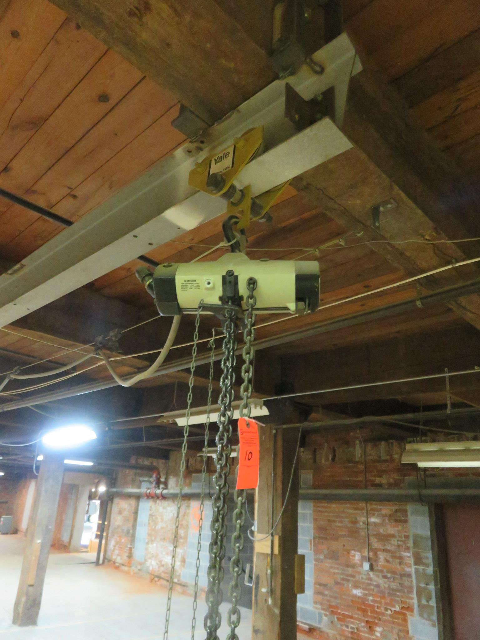 Yale 1/2 Ton Hoist and Trolley - Image 3 of 3