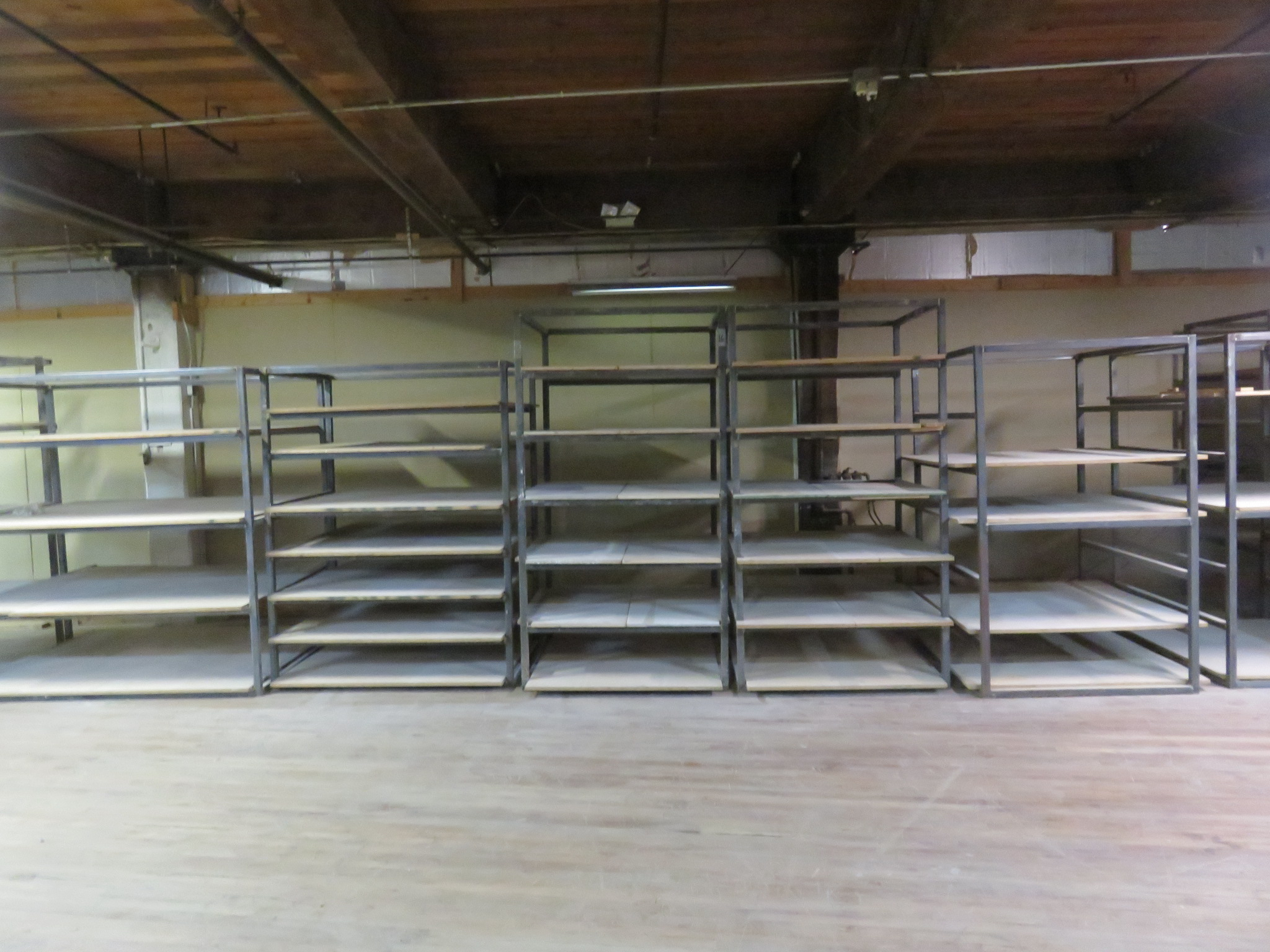 Custom Shelving/ Racks Lot of 9 Sizes Vary - Image 2 of 3