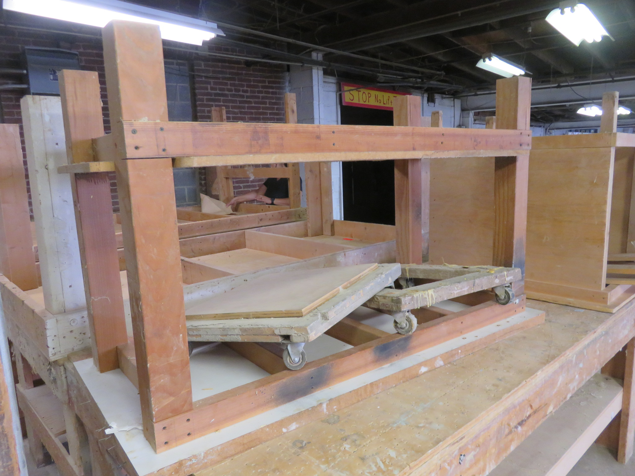 """Heavy Duty Wooden Work Tables Lot of 3 approx 96""""x 48""""x 36, 38""""x 32""""x 34"""" 60""""x 28""""x 36"""" - Image 2 of 4"""
