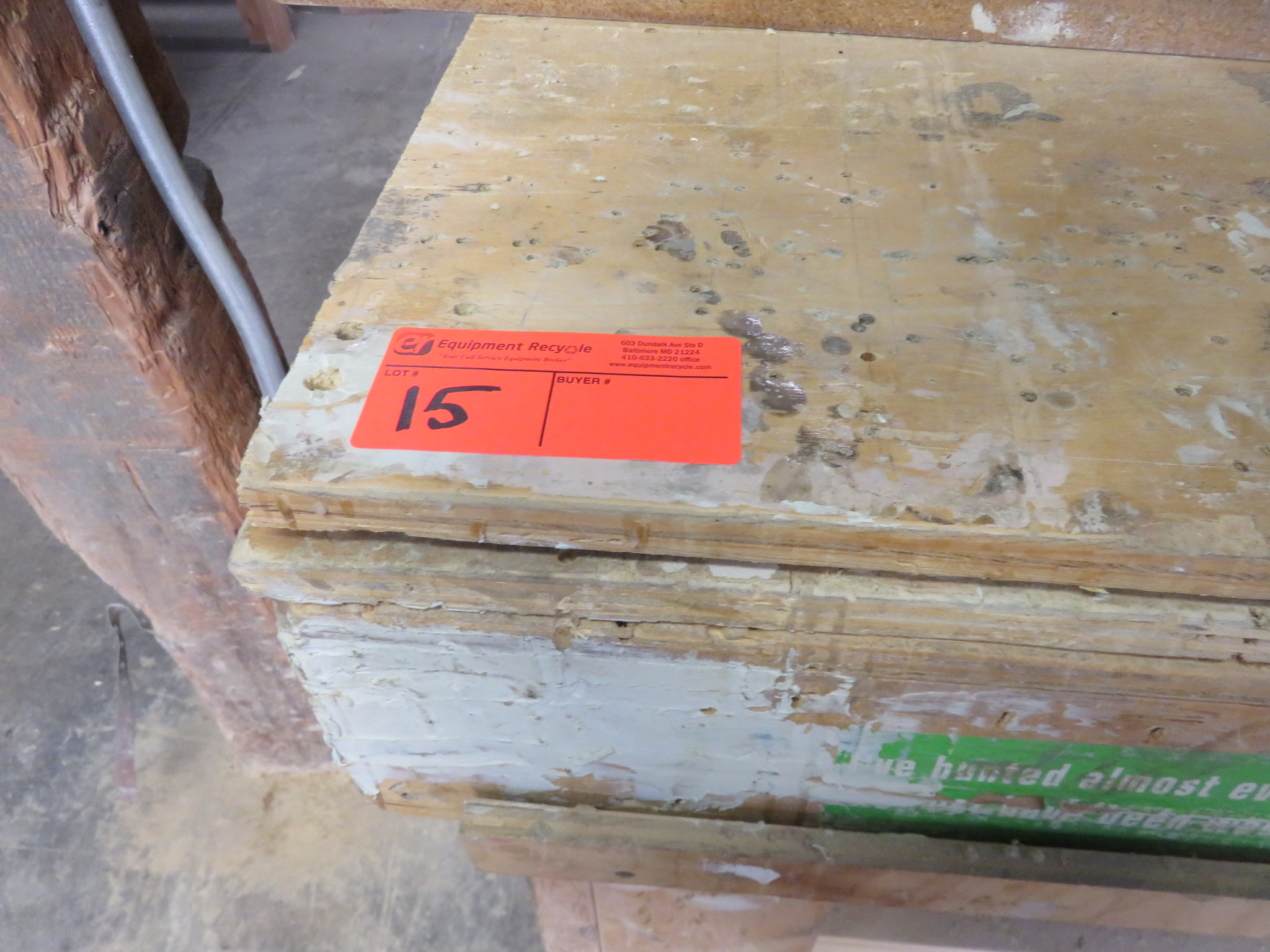 """Heavy Duty Wooden Work Tables Lot of 3 approx 96""""x 48""""x 36, 38""""x 32""""x 34"""" 60""""x 28""""x 36"""" - Image 4 of 4"""