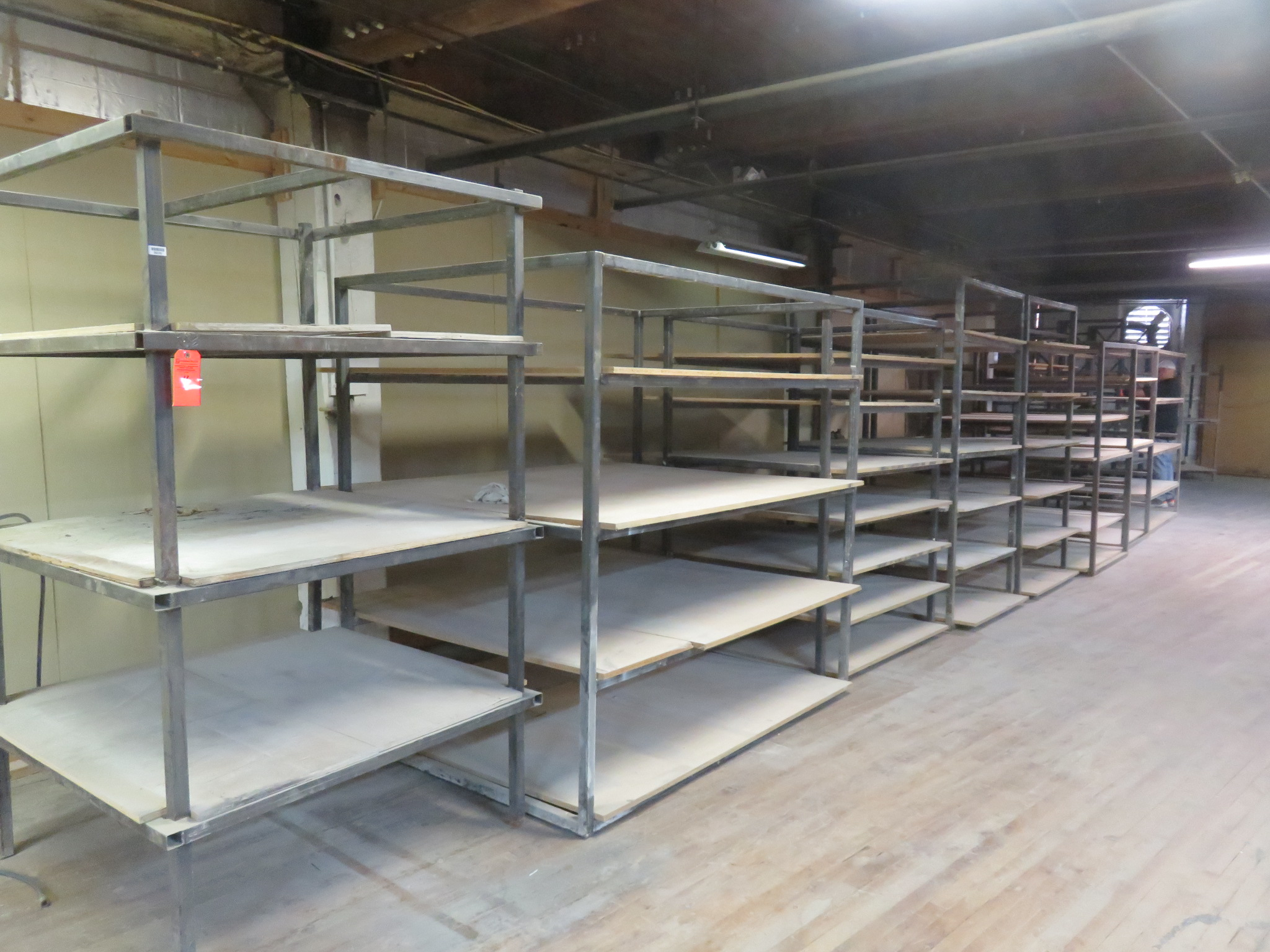 Custom Shelving/ Racks Lot of 9 Sizes Vary