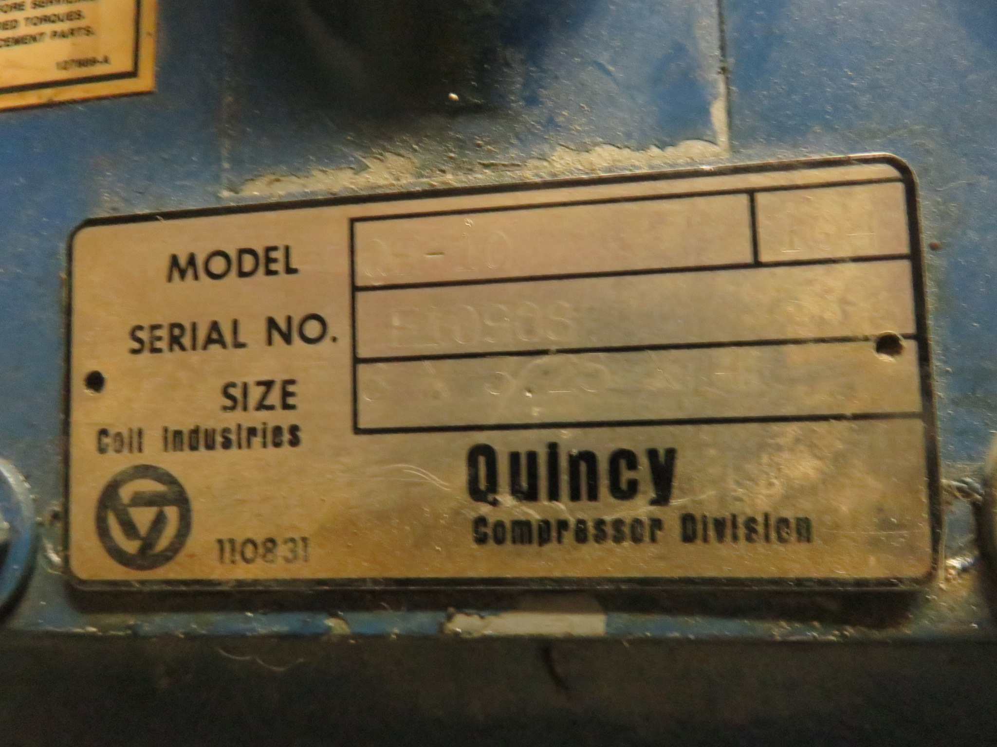 Quincy QE15 Air Compressor 15 HP Phase 3 230/460 Volt - Image 5 of 9