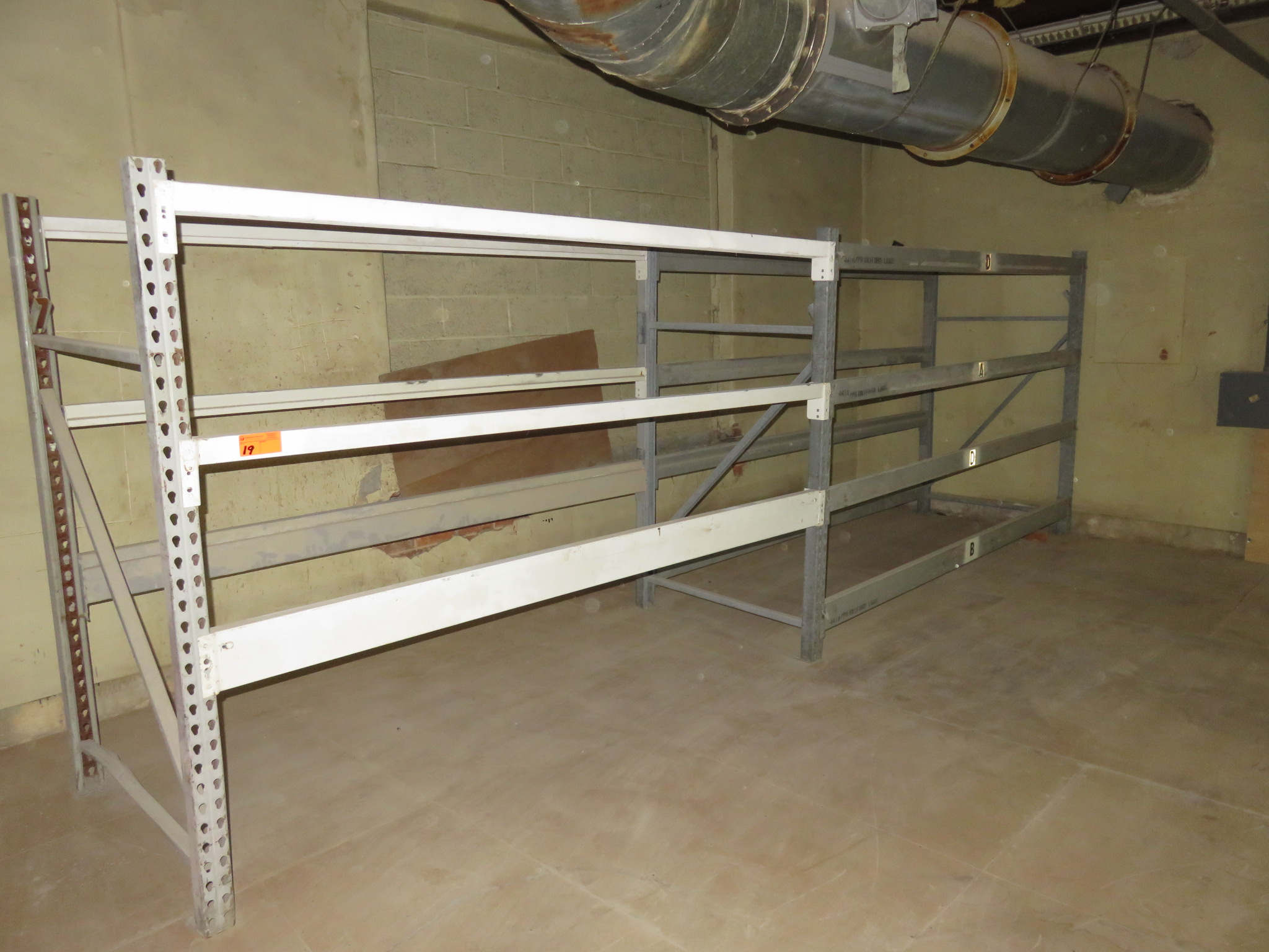 """Warehouse Pallet Racking 2 Sections approx 72""""x 42"""" X 96"""""""