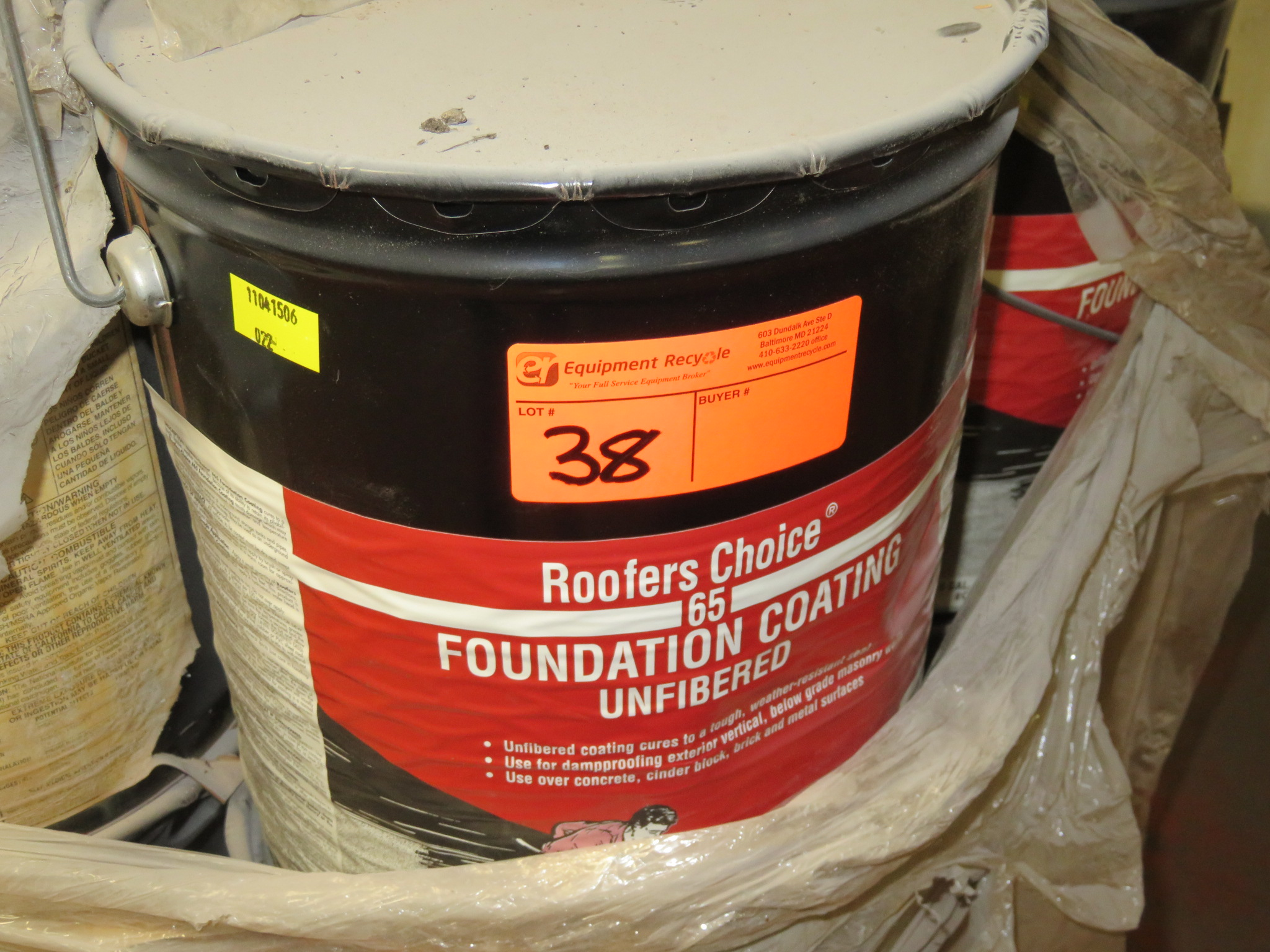 Lot of Mixed Roofers Choice & Tam Pro Foundation Coating and Roof Cement - Image 5 of 5