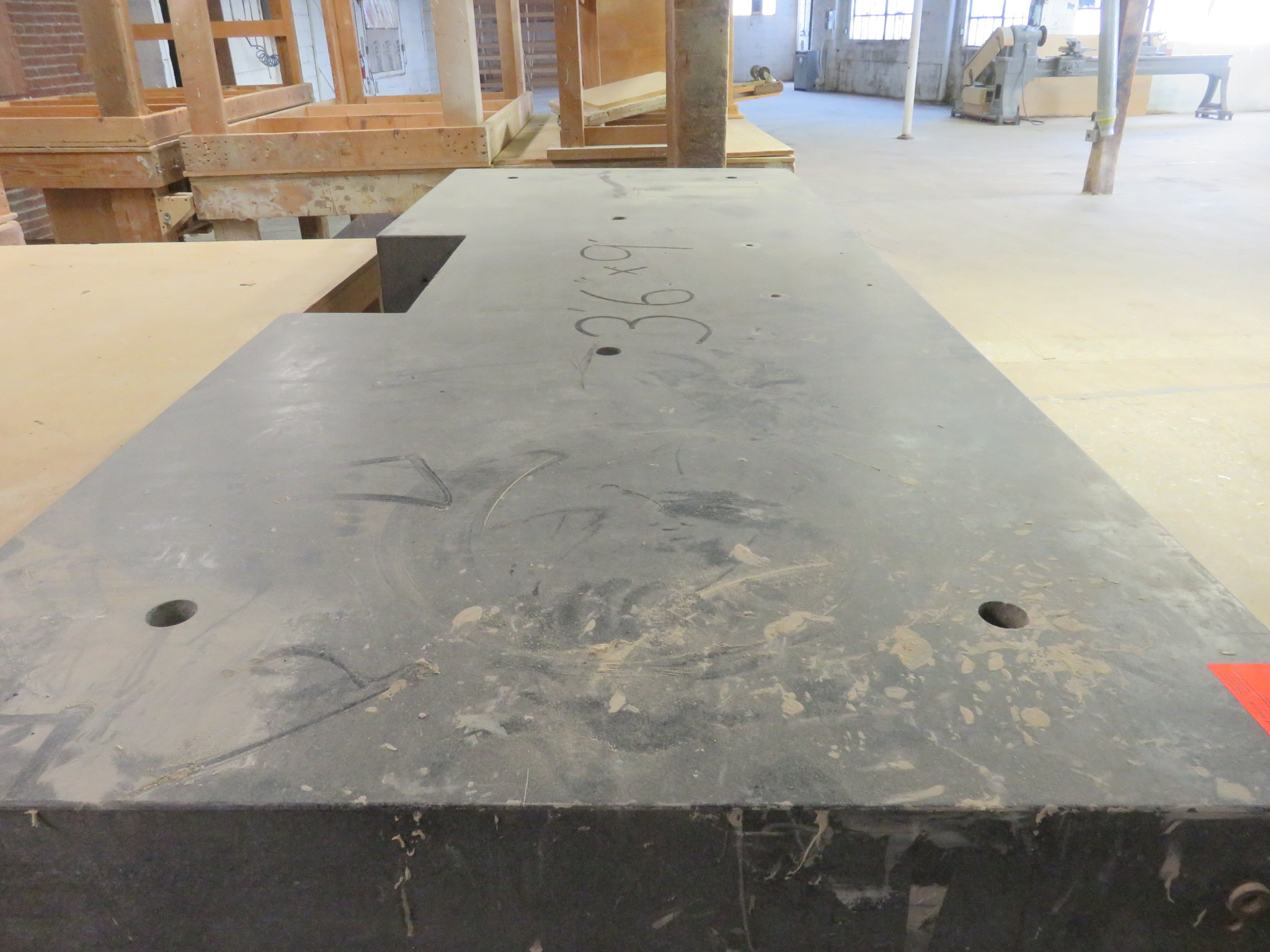 "Granite Work Top Packing Table approx. 108"" x 42""x 40.5"" - Image 2 of 3"