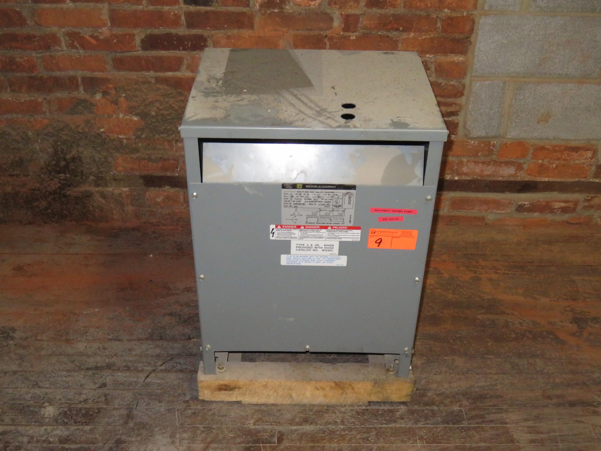 Square D 15KVA Insulated Transformer